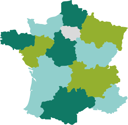 carte de la france formations Marketing Beauté